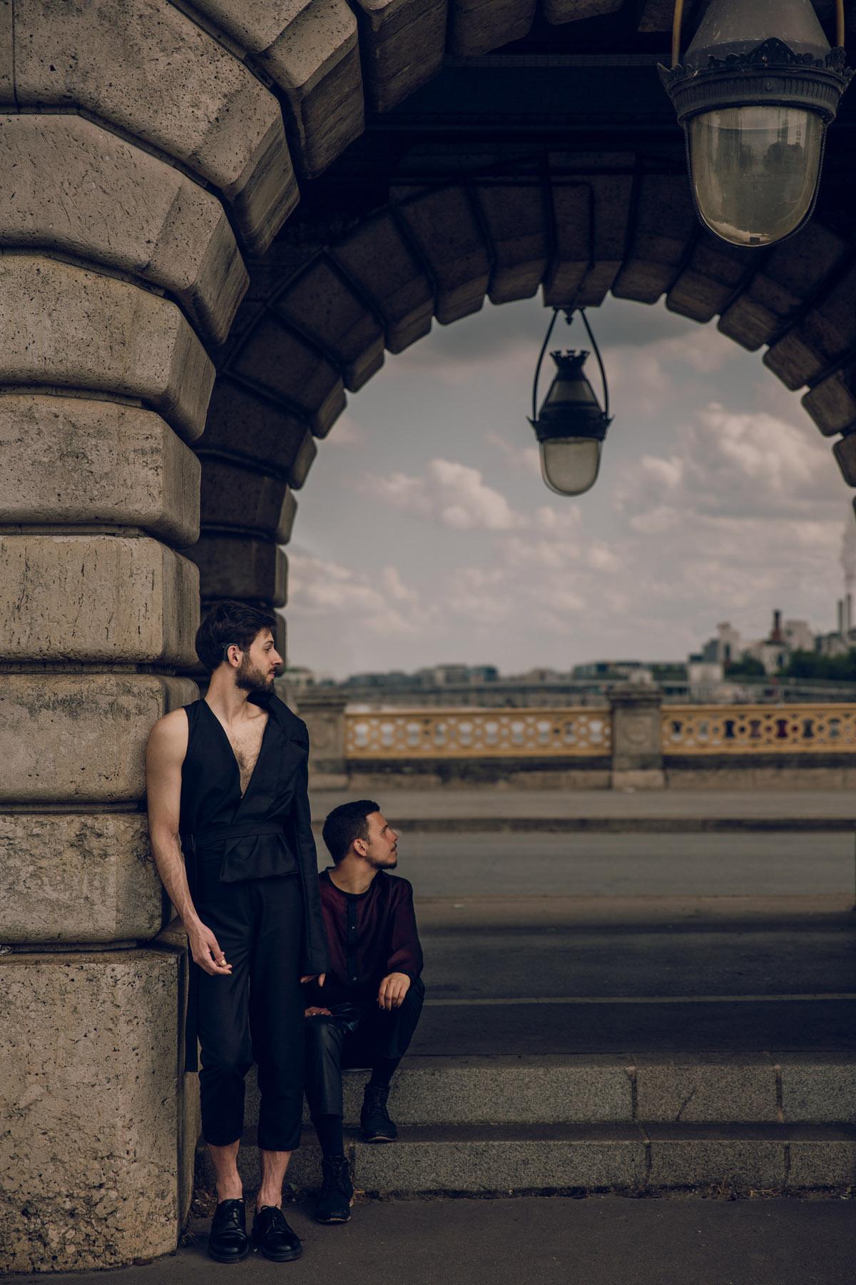 Modèles Nicolas Combat, Fado Brajou - Stylisme Lucas Wild - Makeup Marie Crocobise - Assistant Ad Gir - La Communauté Minuscule - Jean Ranobrac